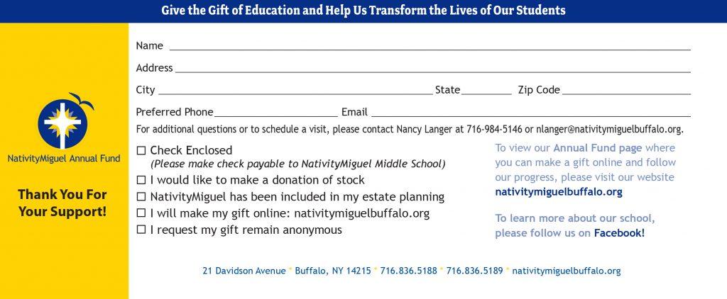2019 Donation Form